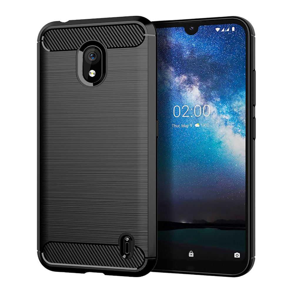 Carbon Fiber Soft <font><b>TPU</b></font> Case For <font><b>Nokia</b></font> 7.2 2.2 3.2 6.2 <font><b>6.1</b></font> 5.1 Plus 4.2 7.1 2.1 3.1C C1 X3 X6 2018 X71 8 9 PureView Case Silicone image