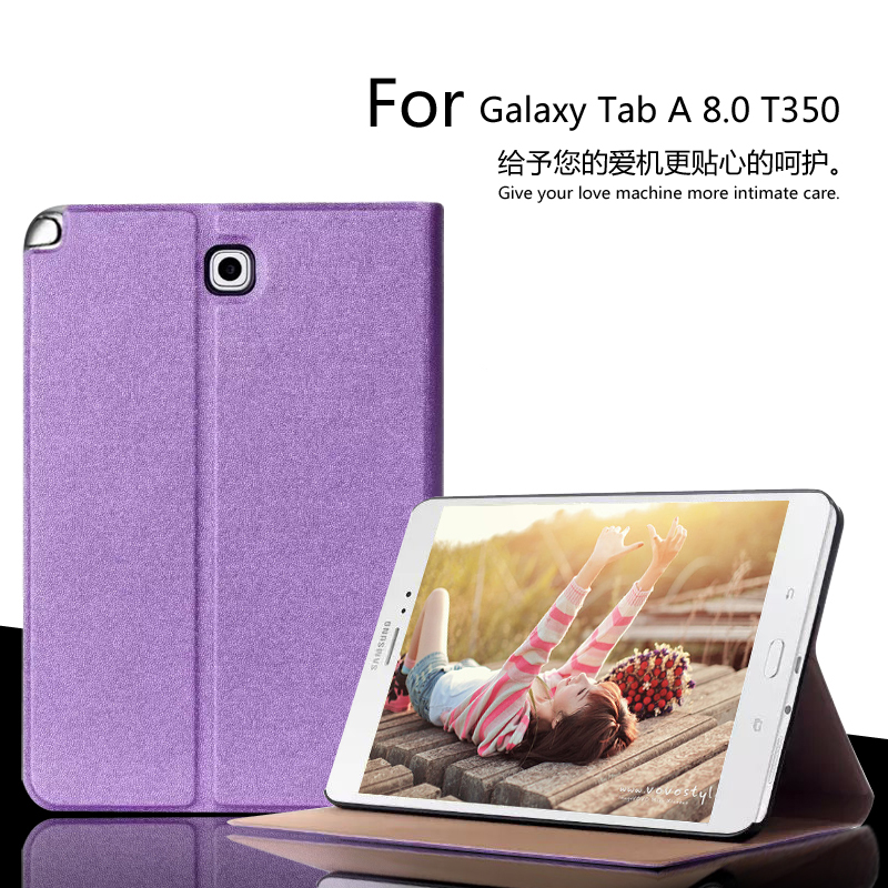 For Samsung Galaxy Tab A 8.0 T350 T355 P350 P355 Luxury Stand Folio Flip PU Leather Skin Magnetic Smart Sleep Cover Case + Film ...