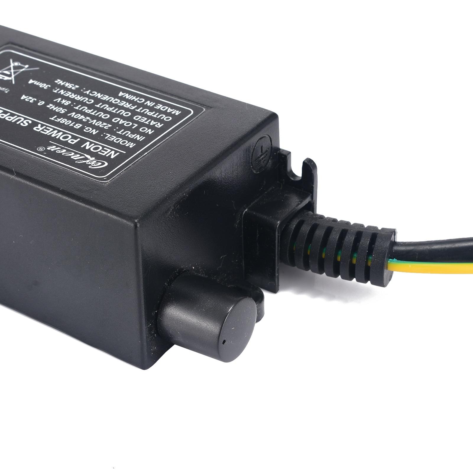 Adjustable Neon Transformer Power Supply 8KV 220V 30mA With Dimmer Neon Ballast EU Plug