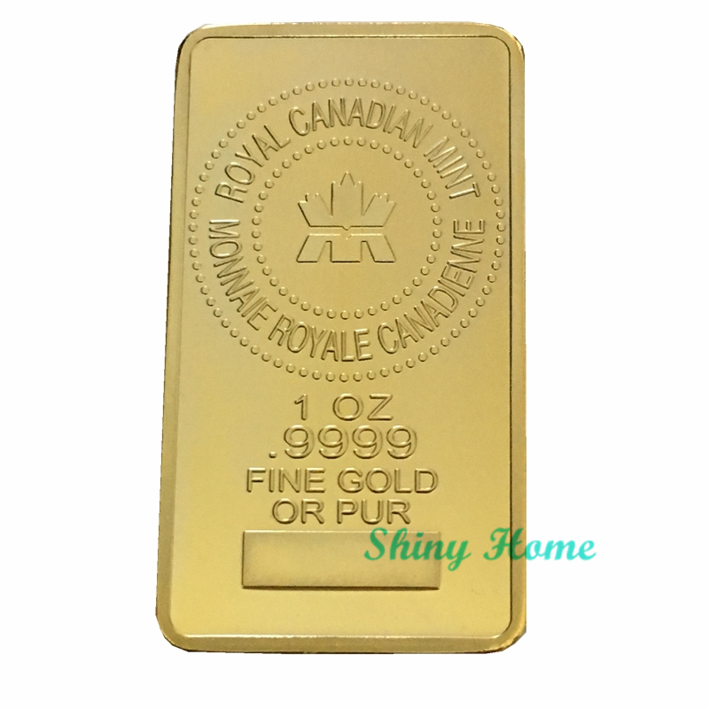 24K Canada Gold Bullion Bar 1 OZ  9999 Fine Gold Or Pure