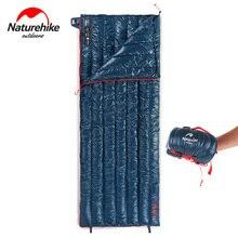 NatureHike açık kamp uyku tulumu 570g Ultralight zarf 95% kaz aşağı kış uyku tulumu seyahat yürüyüş taşınabilir