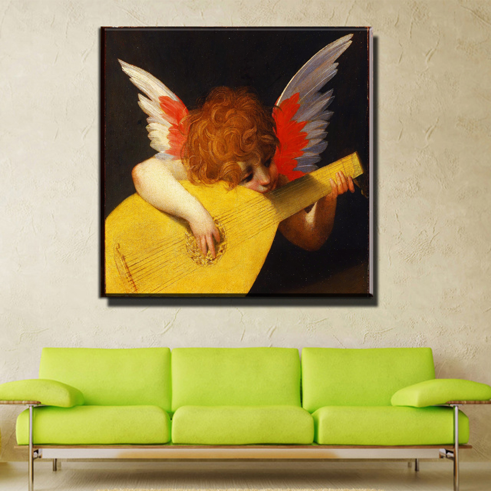 xdr375 rosso fiorentino master copy oil painting small angel playing ...