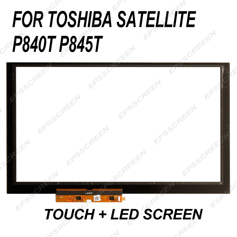 "new touch display replace for Toshiba Satellite P840T P845T 14"" Touch Screen Digitizer Glass Panel"