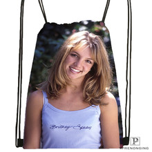 Custom Britney-Spears-American- @01  Drawstring Backpack Bag Cute Daypack Kids Satchel (Black Back) 31x40cm#20180611-02-72