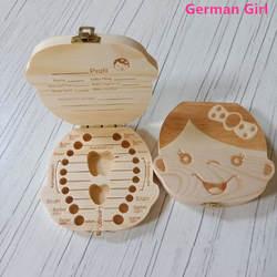 Зуб Коробка для хранения Portugue пособия по немецкому языку Английский Испанский Французский Итальянский текст маленьких мальчиков и девочек
