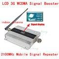 Antena interna + 3g reforço de sinal display LCD! wcdma 2100 mhz 3G repetidor de sinal de celular, amplificador de sinal de telefone celular 3g