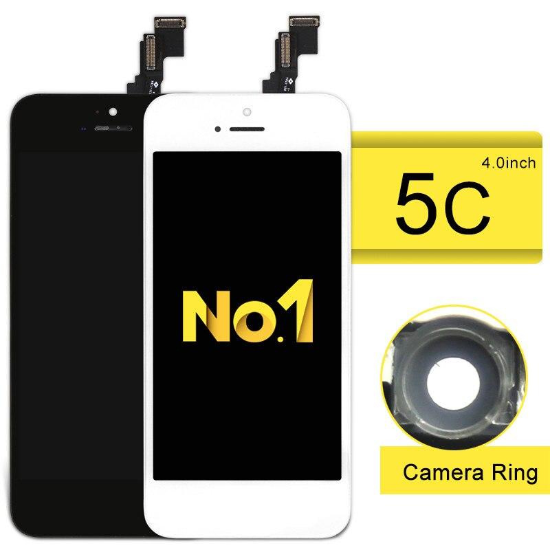 imágenes para NO. 1 alibaba de china AAA Calidad de La Pantalla LCD Asamblea Digitalizador Para El Teléfono 5C Pantalla LCD Negro/Blanco Todo partes