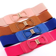 Fashionable Design Waistbands Thin Elastic Knitted Belt for Women Bow Waistband Female Vintage Dress Belt Accessories for Ladies цена 2017