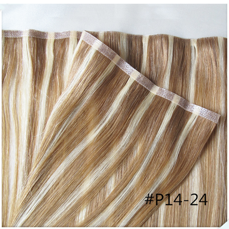 Remy hand tied human hair extensions skin weft pu silky straight remy hand tied human hair extensions skin weft pu silky straight european tape hair 19inch 613 blondehair nature black hair in skin weft hair extensions pmusecretfo Images