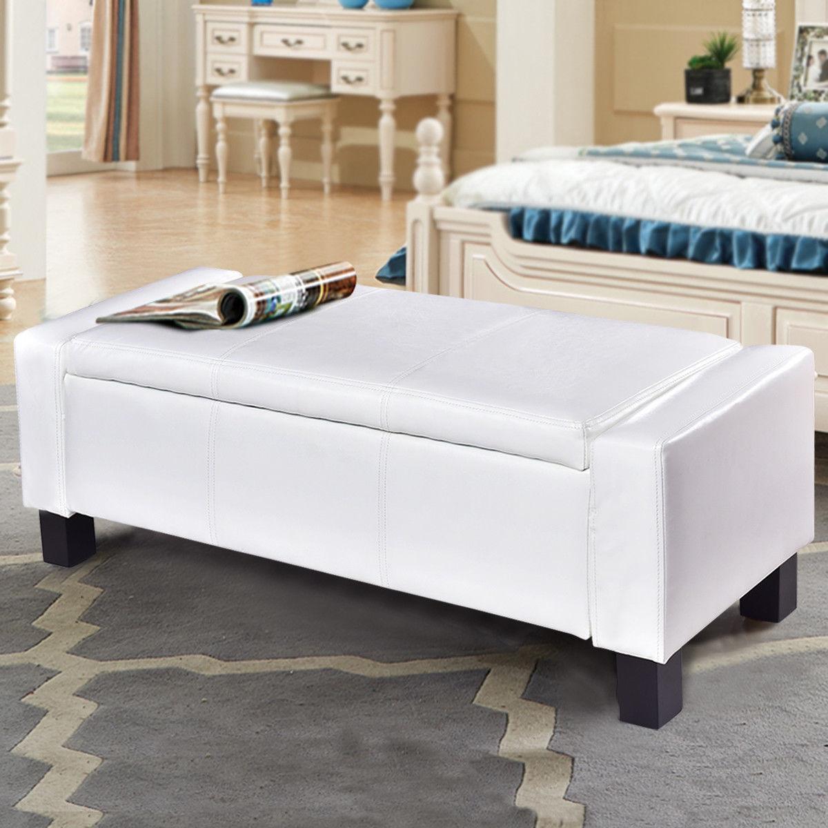 Giantex 43 Pu Leather Ottoman Bed Storage Bench Modern