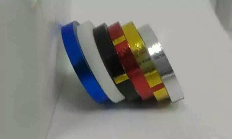 moda 60 pcs lote mais novo 6 cores auto adesivo sem cola onda striping fita linha