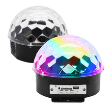 MP3 LED Bluetooth MP3 Disco Party Lights 9 Color LED Crystal Magic Ball Light With Remote/Voice Control DJ Stage Effect Lights цена