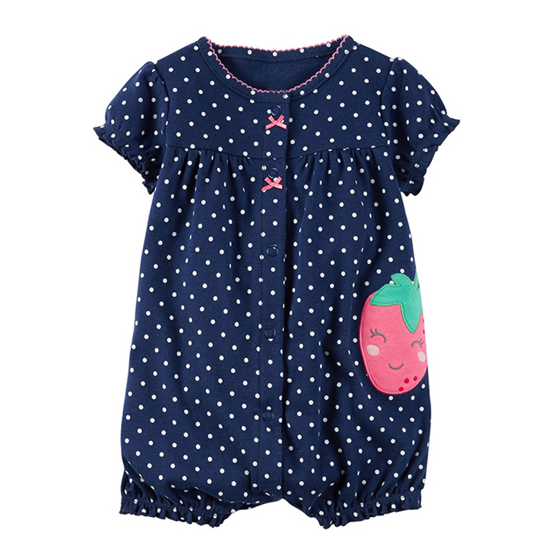 Toddler Baby Rompers Summer Baby Girl Clothes Cotton Baby Boy Clothing 2017 Newborn Baby Clothes Roupas Bebe Infant Jumpsuit summer cotton baby rompers boys infant toddler jumpsuit princess pink bow lace baby girl clothing newborn bebe overall clothes
