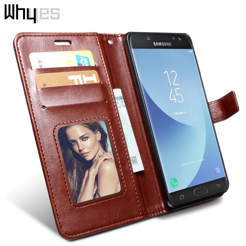 Whyes Case For Samsung Galaxy J7 2017 J730 Phone Cover Bags Photo Frame PU Leather For Samsung J7 Pro Case Wallet Flip Retro