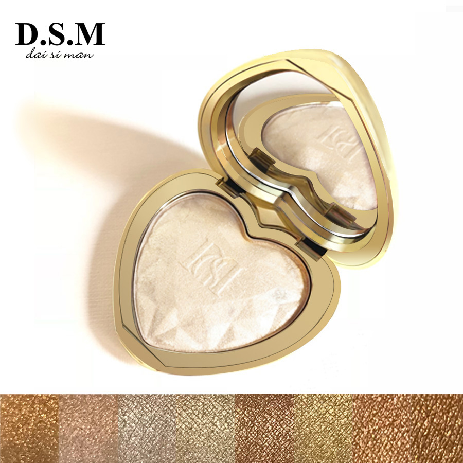 D.S.M Professional Highlighter Makeup Face Powder Highlighting Concealer Cosmetics Eyes Glow Kit Palette Bronzer and Highlighter essence prismatic rainbow glow highlighter 10 цвет 10 be a unicorn variant hex name f4d683