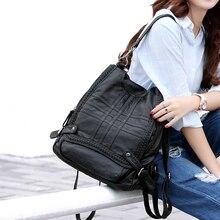 Neue Mode frauen Rucksäcke Weiblichen Echtem Leder Rucksäcke Schultaschen Für Mädchen Im Teenageralter Marke Designer Damen Umhängetaschen