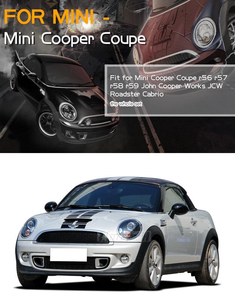 Автомобильный капот на крышу, задние полосы, наклейка на тело для Mini Cooper Coupe r56 r57 r58 r59 John Cooper Works JCW Roadster Cabrio