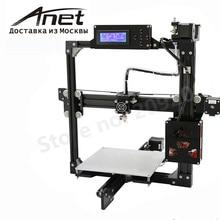 Negro Anet A2 impresora 3d Reprap Prusa i3/marco del metal de aluminio pantalla LCD/PLA 8G SD card como regalo/envío rápido de Moscú