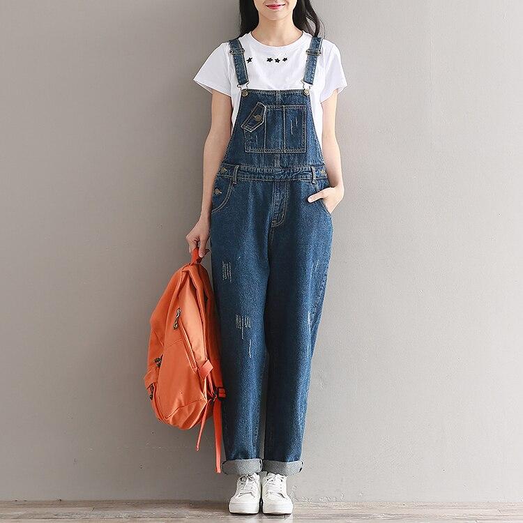 8b0fbc65bae 2018 Jeans Women Jumpsuit Denim Romper Overalls Casual Long Trousers  Vaqueros Basic Denim Pants Wide Leg Rompers Female p153