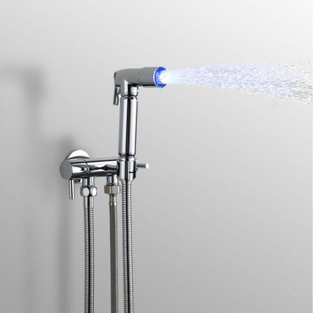 Superfaucet LED Bidet Hand Spray,Bidet Sprayer,Bidet Shower Lights ...