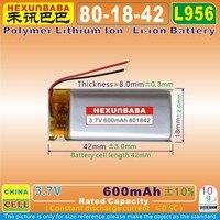 5pcs [L956] 3.7V 600mAh [801842] PLIB;polymer lithium ion / Li-ion battery for SMART WATCH,mp4,toy,speaker,DVR,GPS,mp3;MP5
