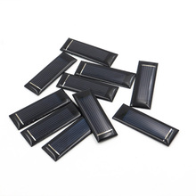 10pcs/lot 0.5V 100mA Solar cells Epoxy Polycrystalline Silicon DIY Battery Power Charger Module small solar Panels toy