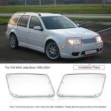 Um Par de Farol Farol Substituição Tampa de Plástico Transparente para VW Jetta Bora MK4 1998-2004