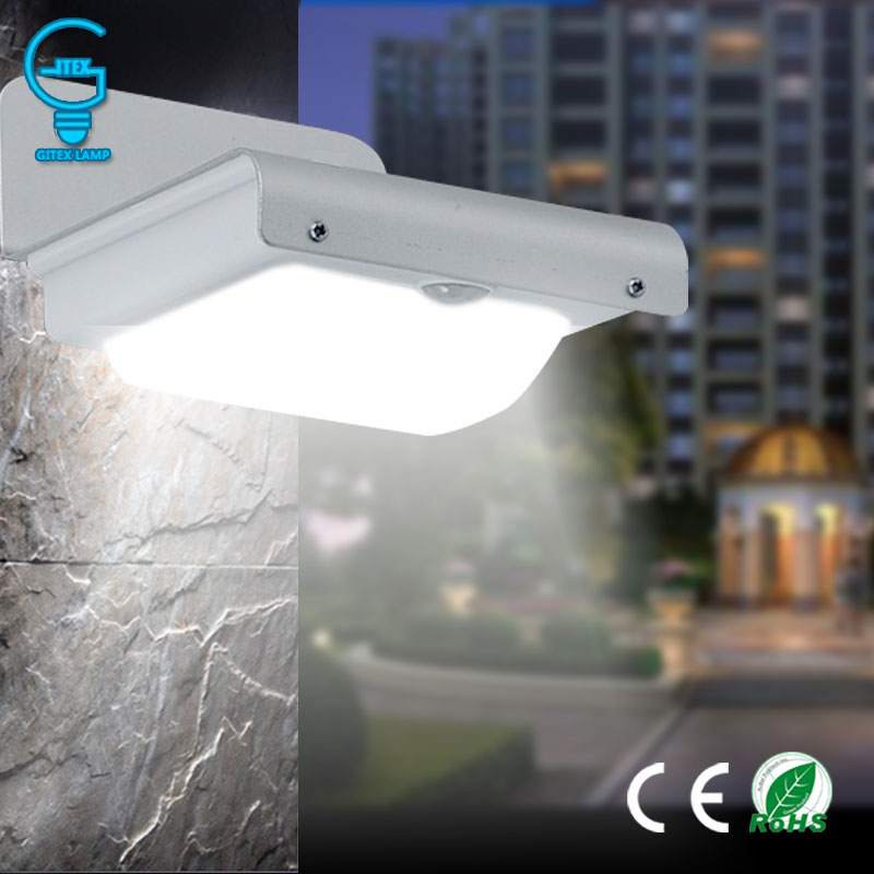 Gitex 16 LED Solar Sensor Light Outdoor Solar Powered PIR Motion Sensor Lamp Wireless Wall lamp Solar Security light