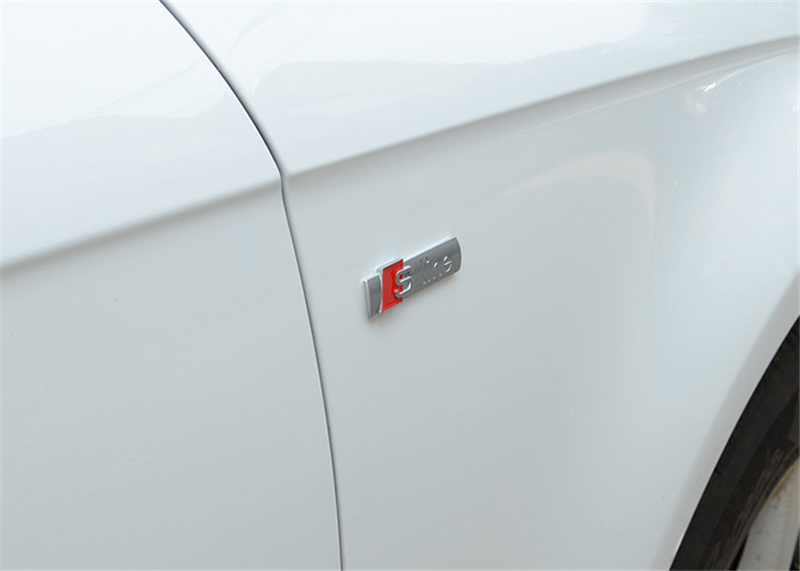 Cool and elegant 3D Metal Car S-line Sticker accessories