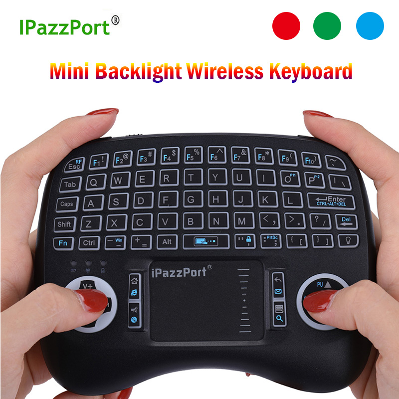 IPazzPort Keyboard 2.4GHz Wireless Keyboard With Touchpad Fly Air Mouse Remote Control For Android 9.0 TV BOX HK1 Max H96 Max