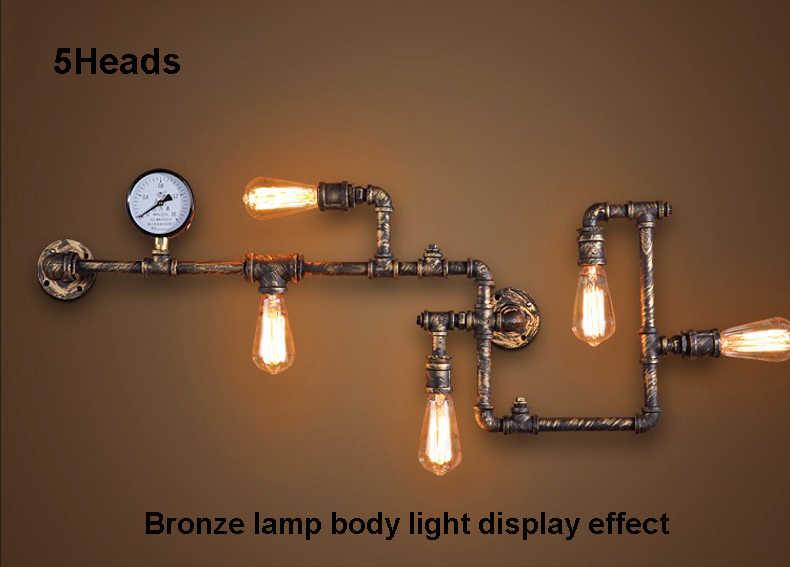 Лофт Промышленные Настенные светильники под старину edison Настенные светильники с лампами накаливания E27 110 В-220 В Винтаж трубы бра для гостиная Освещение
