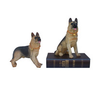Home Decor Wolf Dog Figurines Resin Crafts Office Decor Dogs Figurines Crafts Lovely Dogs Car Decor Dogs Statues