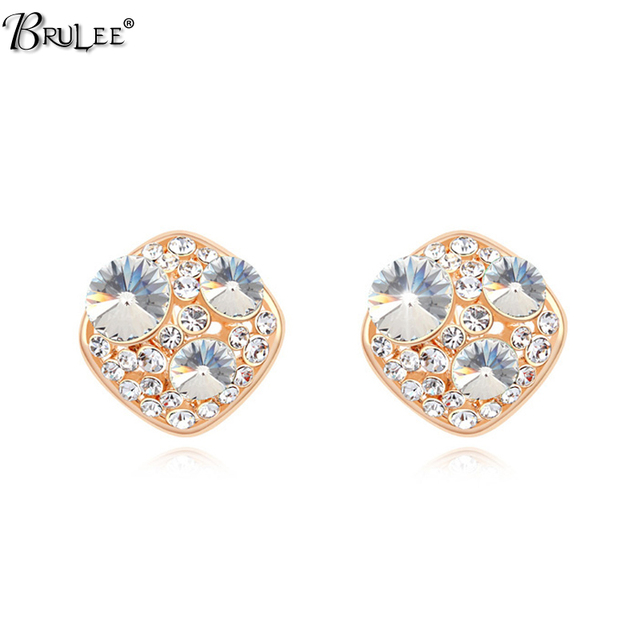 2017 New Fashion Christmas Ohrstecker For Women From Swarovski Elements Crystal Stud Earrings Punk Jewelry In