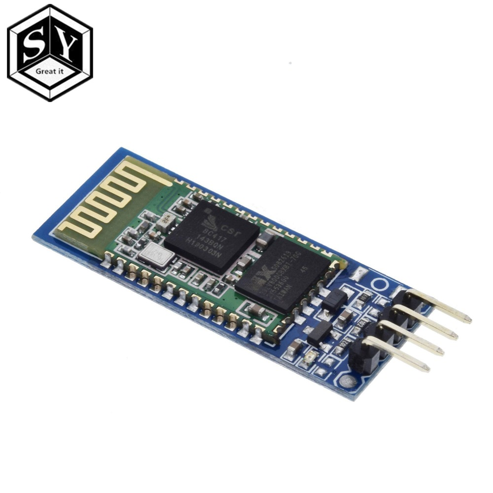 GREAT IT  1PCS HC06 HC-06 Wireless Serial 4 Pin RF Transceiver RS232 TTL Bluetooth Module Plug-in for arduinoGREAT IT  1PCS HC06 HC-06 Wireless Serial 4 Pin RF Transceiver RS232 TTL Bluetooth Module Plug-in for arduino