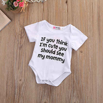 59b23092e036d Toddler Letter Jumpsuit Fashion Baby Boy White Bodysuit Cute Baby Girl  Words Clothes Infant Summer Print Outfits