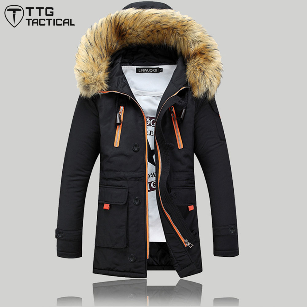 ФОТО Leisure Men Winter Cotton Coat Quality Custom Fit Windproof Hooded Jacket Male Plus Size Thick Long Cloth