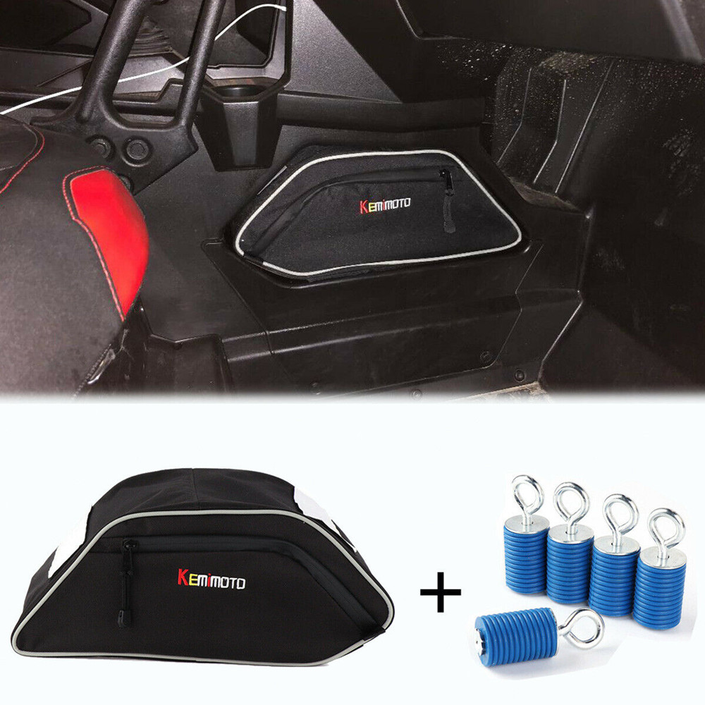 KEMIMOTO ATV Seats Center Console Storage Bag Ride Tie Down Anchors for Polaris General 4 1000