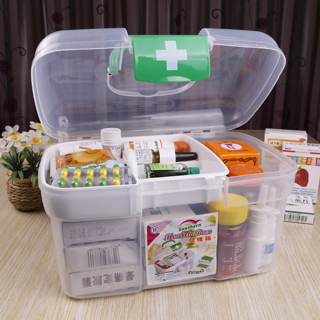Small Portable First Aid Case Medicine Storage Box