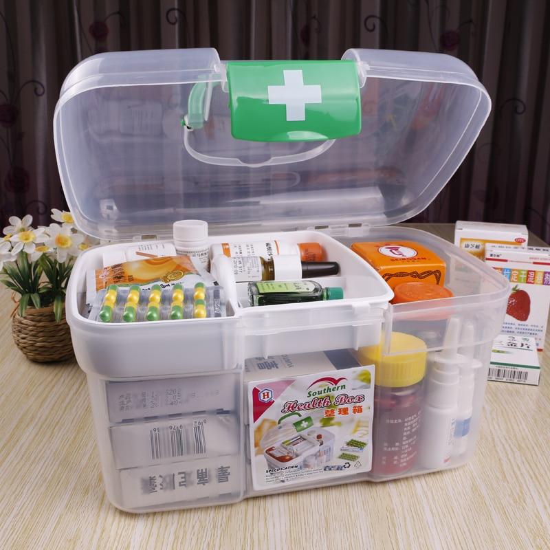 Delightful Small Portable First Aid Case Medicine Storage Case Box(China (Mainland))