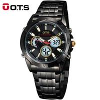 New OTS Men Watch Brand Quartz Military Watch Men Stainless Watches Casual Wristwatch Steel Watch Relogio