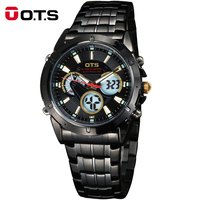 New OTS Men Watch Brand Quartz Military Watch Men Stainless Watches Casual Wristwatch Steel Watch Relogio