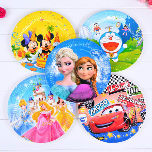 6pieces New Good Cartoon Theme Mickey Multicolor Disposable Cake Paper Plates Dish 7u0027u0027 inch  sc 1 st  AliExpress.com & 6pieces New Good Cartoon Theme Mickey Multicolor Disposable Cake ...