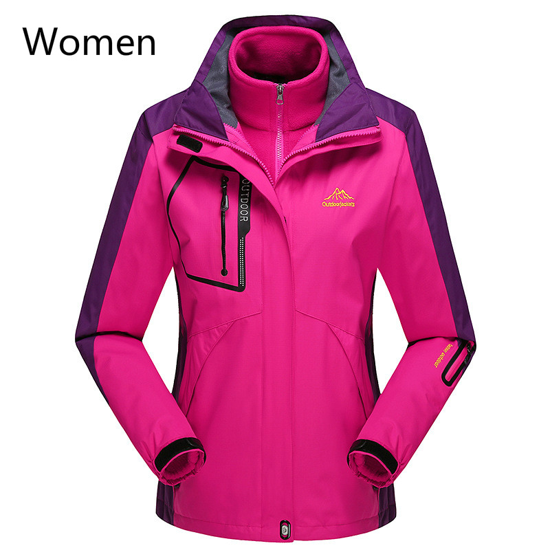 2018 The New Men's And Women's Assault Clothes Are Waterproof, Windproof And Warm, One Coat And Three Mountaineering Jacket 9XL