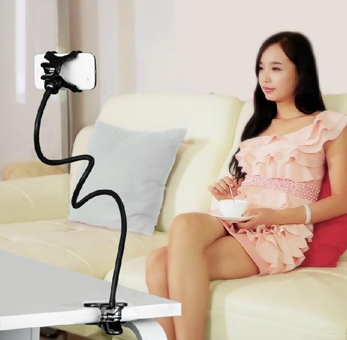 360 degree Flexible Arm phone holder stand Lazy People Bed Desktop mount for LG Magna G flex 1 2 D392 F70 D315