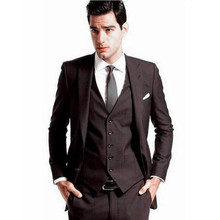 Fashion Men's Suit  Hot Sale Best Man Groomsmen Suit Groom Tuxedo Formal Men Wedding Business Suit