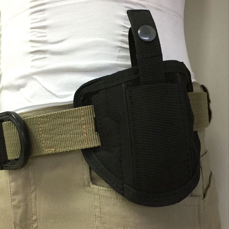 Tactical Concealed Handgun Nylon Holster Right/Left Hunting Belt Holster For All Size Airsoft Pistol Waist Pouch Magazine Bag