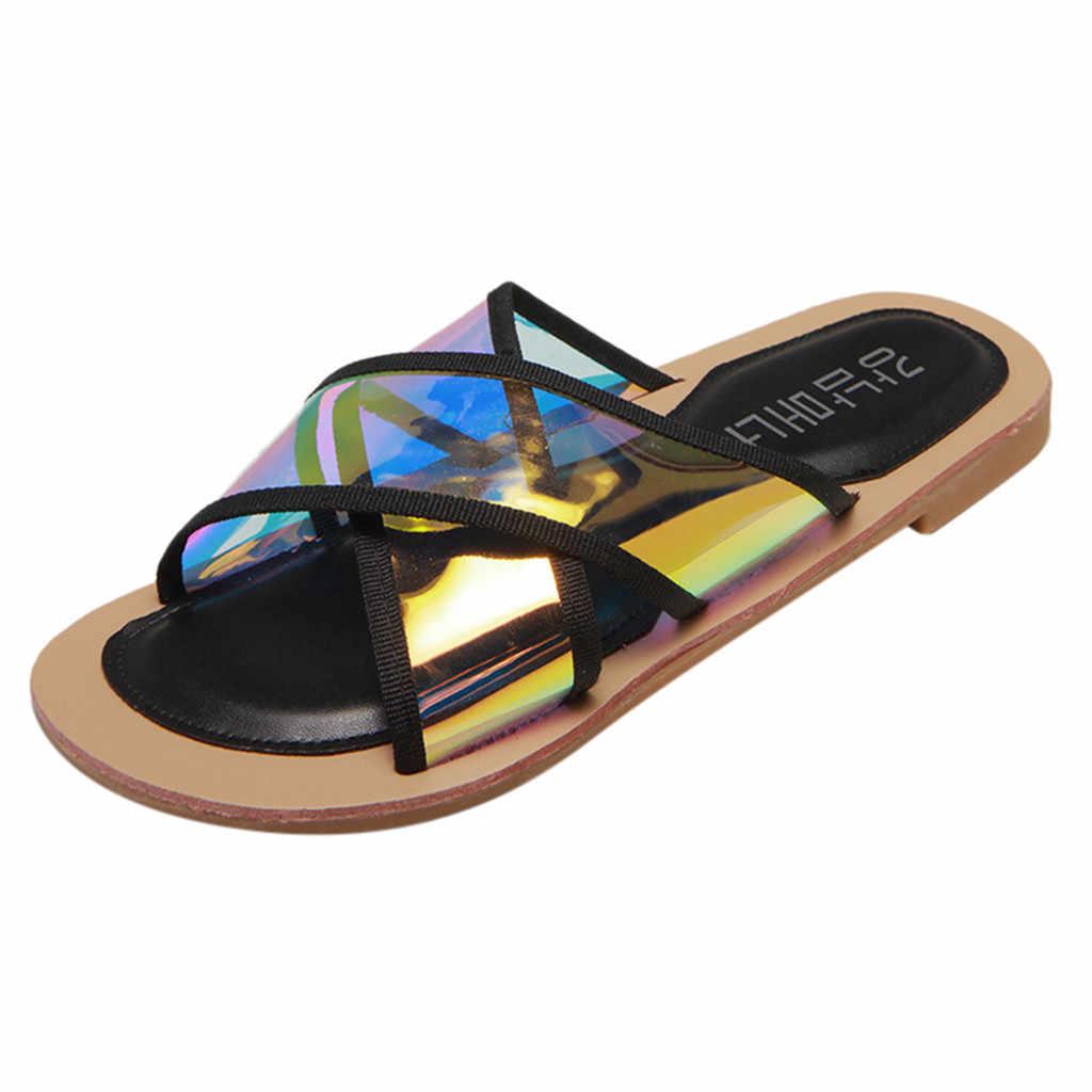 Elegante Vrouwen Dames Mode Strand Sandalen Hollow Out Casual Slippers Flats Schoenen Slip Op Sandalen Schoeisel Zee Water Schoenen