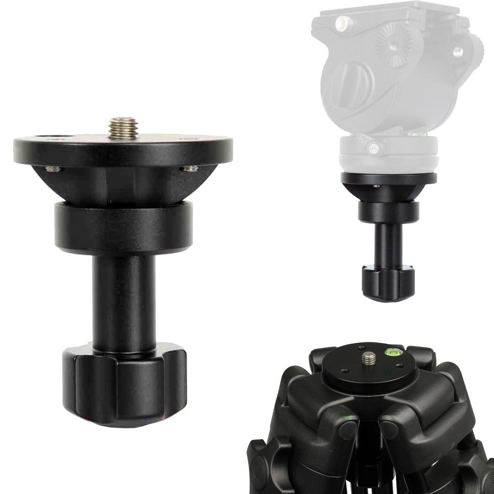 65mm CNC Half Ball Flat to Bowl Adapter Converter for Manfrotto Weifeng Video Tripod Fluid Head