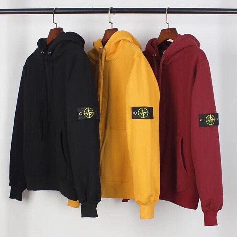 Est Land Logo hoodies Streetwear Kanye West broderie Hip Hop Harajuku ras-du-cou Punk décontracté hauts sweatshirts à capuche manteaux