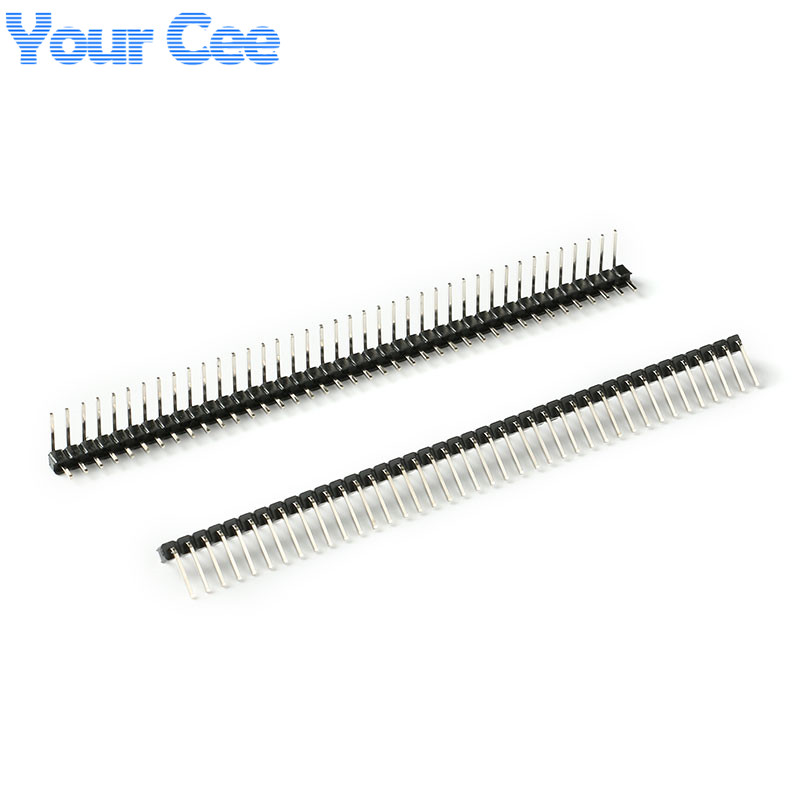 10 pcs 1x40 pin 2 54mm male single row right angle pin header